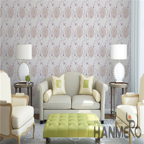 HANMERO PVC Fancy shopping wallpaper Bronzing European Saloon 0.53*10M Flowers