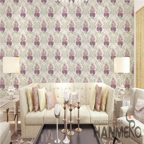 HANMERO PVC Fancy Flowers purchase wallpaper European Saloon 0.53*10M Bronzing