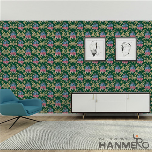 HANMERO PVC Fancy Flowers Bronzing European Saloon where to get wallpaper 0.53*10M