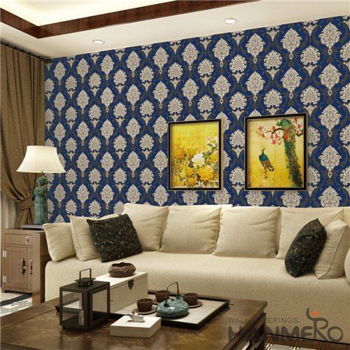 HANMERO PVC Fancy Flowers 0.53*10M European Saloon Bronzing wallpaper decoration for bedroom