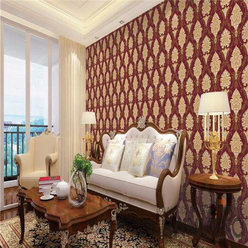 HANMERO PVC Fancy Flowers Bronzing 0.53*10M Saloon European wallpaper in bedroom