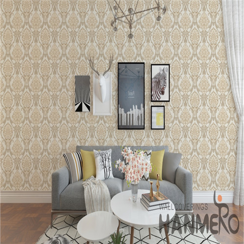 HANMERO PVC Fancy Flowers Bronzing European 0.53*10M Saloon wallpapers decorate walls