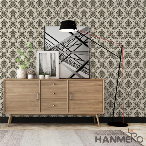HANMERO Saloon Fancy Flowers Bronzing European PVC 0.53*10M house design wallpaper