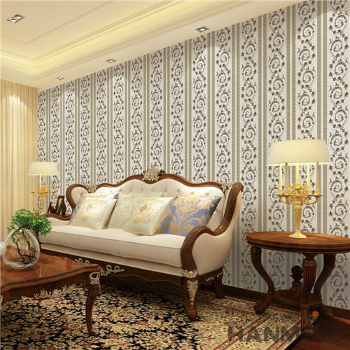 HANMERO PVC Saloon Flowers Bronzing European Fancy 0.53*10M cheap prepasted wallpaper