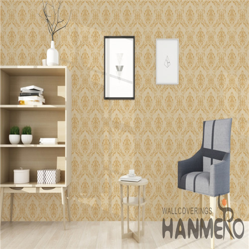 HANMERO PVC Fancy Saloon Bronzing European Flowers 0.53*10M unique home wallpaper