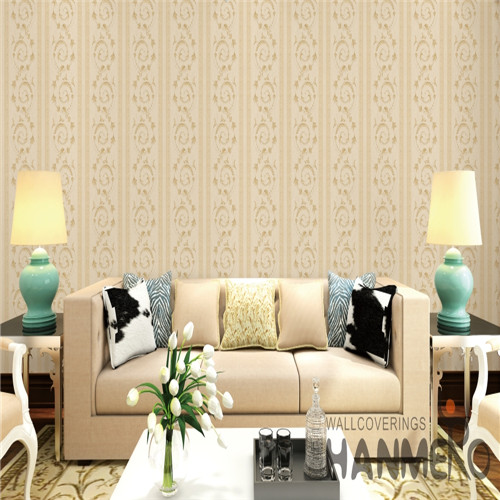 HANMERO PVC Fancy Flowers Saloon European Bronzing 0.53*10M popular wallpapers for home