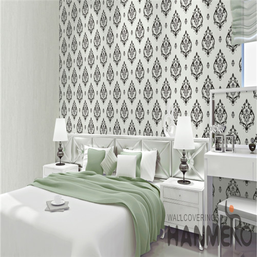 HANMERO PVC Fancy Flowers Bronzing Saloon European 0.53*10M designs of wallpapers for bedrooms