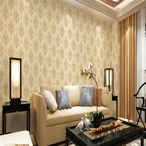 HANMERO European Fancy Flowers Bronzing PVC Saloon 0.53*10M decorative wallpaper for bedroom