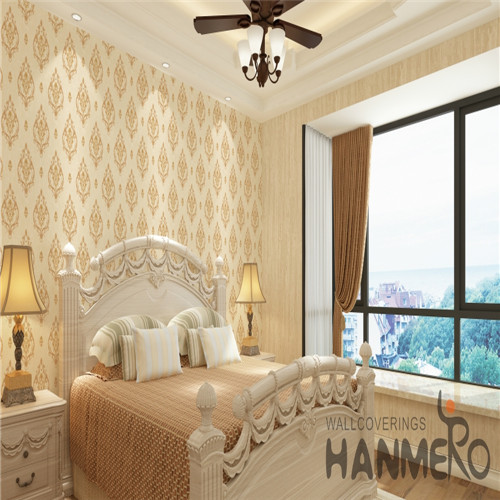 HANMERO PVC European Flowers Bronzing Fancy Saloon 0.53*10M wallpaper at