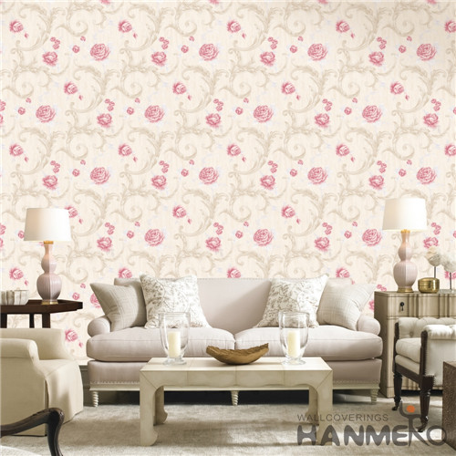 HANMERO PVC Fancy Flowers European Bronzing Saloon 0.53*10M wallpapers for designers