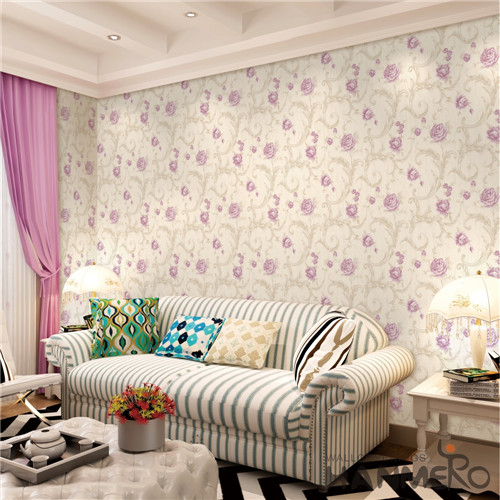HANMERO Bronzing Fancy Flowers PVC European Saloon 0.53*10M designer wall papers
