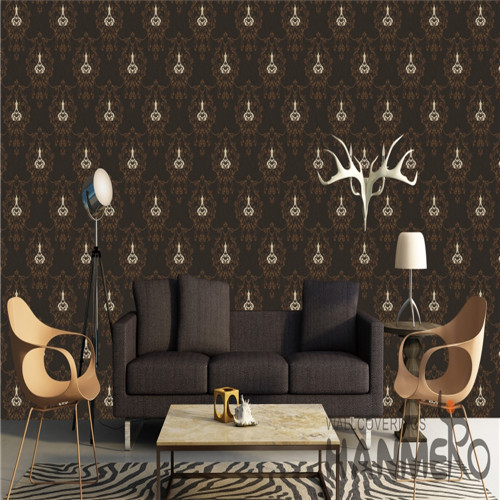 HANMERO PVC Specialized design wallpaper Technology Chinese Style Cinemas 0.53*10M Flowers