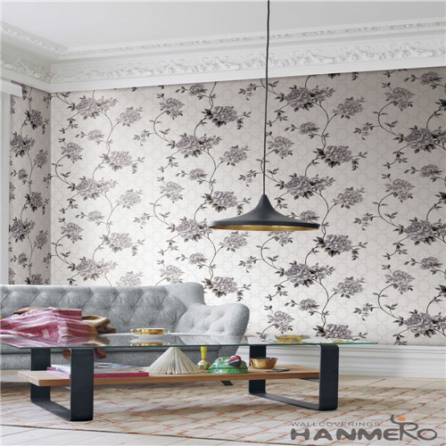 HANMERO PVC Cinemas Flowers Technology Chinese Style Specialized 0.53*10M wallpaper in store