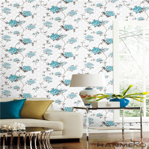 HANMERO PVC Specialized Cinemas Technology Chinese Style Flowers 0.53*10M wallpaper for a room