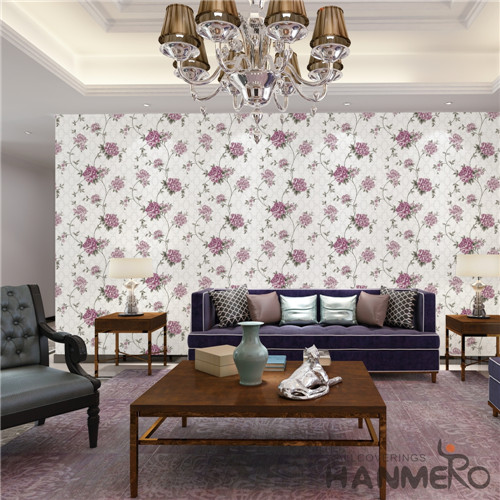 HANMERO PVC Specialized Flowers Cinemas Chinese Style Technology 0.53*10M wallpaper for decorating homes