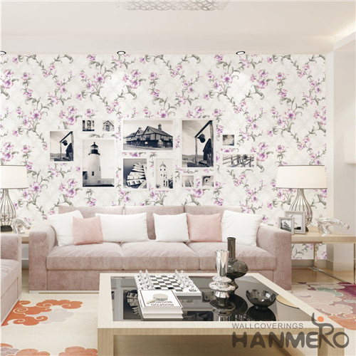HANMERO PVC Specialized Flowers Technology Cinemas Chinese Style 0.53*10M room design with wallpaper