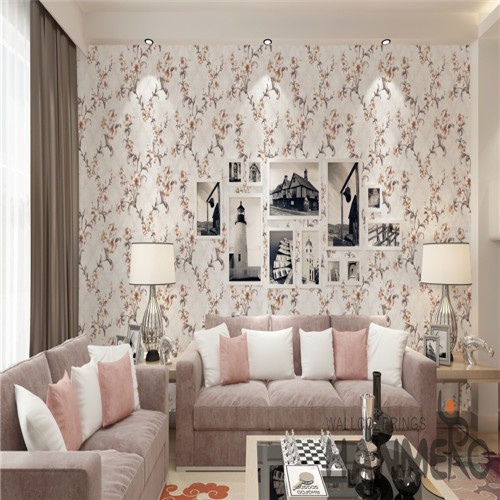 HANMERO PVC Chinese Style Flowers Technology Specialized Cinemas 0.53*10M decoration wallpaper house