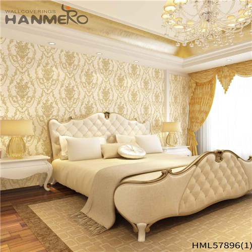 HANMERO PVC Decoration outdoor wallpaper for home Deep Embossed Pastoral House 1.06*15.6M Floral