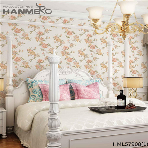 HANMERO PVC Decoration Floral Deep Embossed home decor with wallpaper House 1.06*15.6M Pastoral