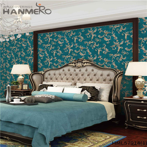 HANMERO PVC Decoration Floral Deep Embossed Pastoral House wallpaper for a room 1.06*15.6M