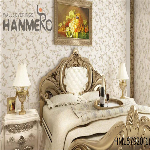 HANMERO PVC 1.06*15.6M Floral Deep Embossed Pastoral House Decoration room wall wallpaper