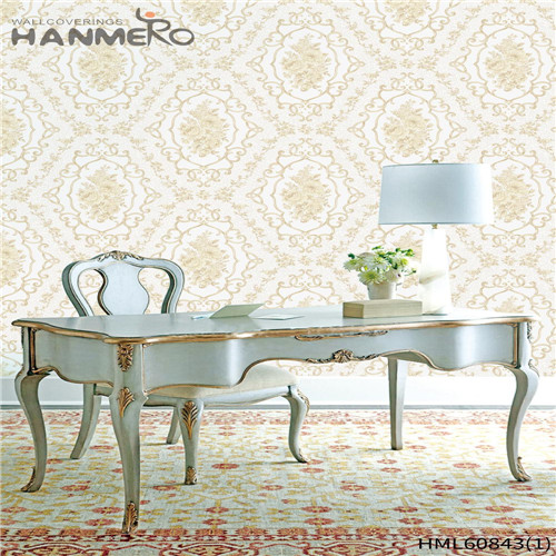 HANMERO PVC Seller Floral Flocking European House 0.53M home wallpaper