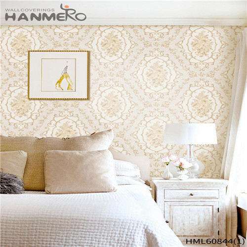 HANMERO kids wallpaper Seller Floral Flocking European House 0.53M PVC