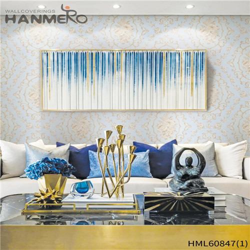 HANMERO PVC textured wallpaper Floral Flocking European House 0.53M Seller