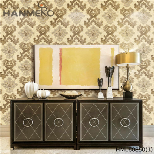 HANMERO PVC Seller modern wallpaper Flocking European House 0.53M Floral