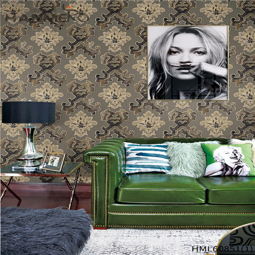 HANMERO PVC Seller Floral wallpaper pictures European House 0.53M Flocking
