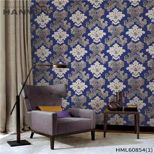 HANMERO PVC Seller Floral Flocking European House wallpaper for house 0.53M