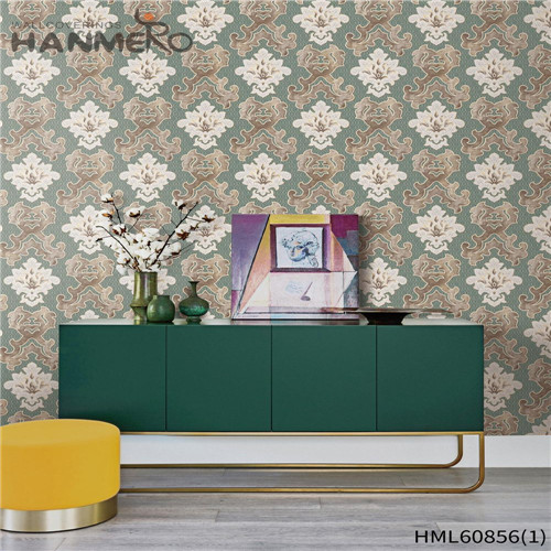 HANMERO PVC 0.53M Floral Flocking European House Seller kitchen wallpaper borders