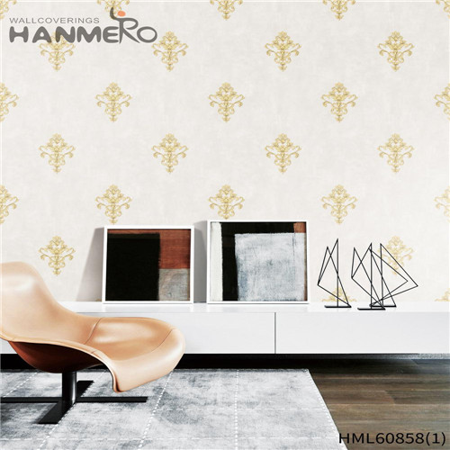 HANMERO PVC Seller 0.53M Flocking European House Floral the wallpaper store