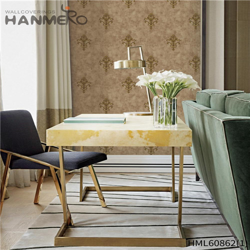 HANMERO PVC Seller Floral 0.53M European House Flocking wallpaper discount