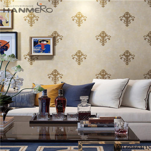 HANMERO PVC Seller Floral Flocking 0.53M House European wallpaper in home