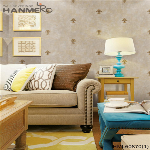 HANMERO PVC House Floral Flocking European Seller 0.53M modern wallpaper home