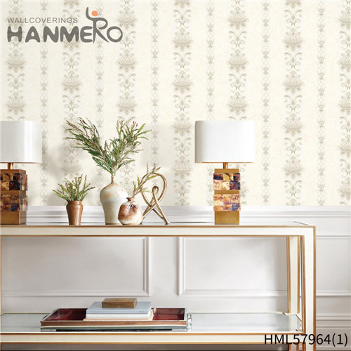 HANMERO PVC New Style Stripes Deep Embossed Pastoral Hallways 0.53*10M wallpaper design