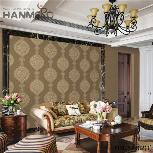 HANMERO PVC New Style more wallpapers Deep Embossed Pastoral Hallways 0.53*10M Stripes