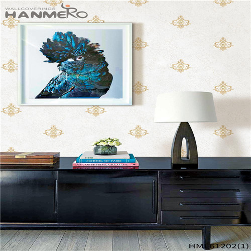 HANMERO PVC Professional Bamboo Flocking Chinese Style Theatres 0.53*10M designer wallpaper