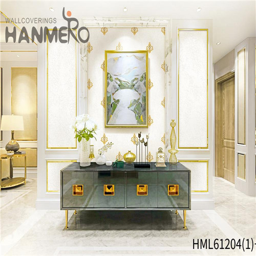 HANMERO textured wallpaper Professional Bamboo Flocking Chinese Style Theatres 0.53*10M PVC