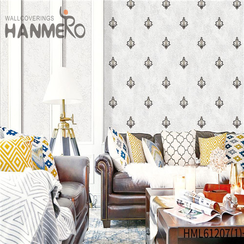 HANMERO PVC Professional purple wallpaper Flocking Chinese Style Theatres 0.53*10M Bamboo