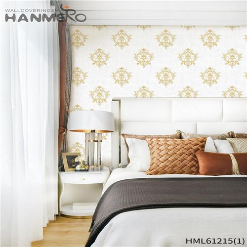 HANMERO PVC Professional Bamboo Flocking Chinese Style Theatres wallpaper retailers 0.53*10M