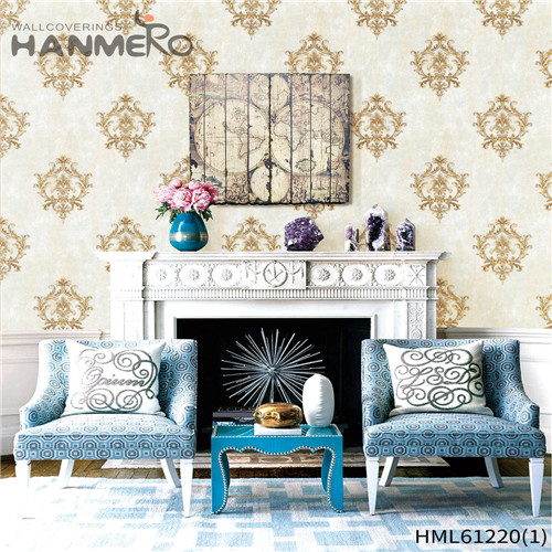 HANMERO PVC Professional 0.53*10M Flocking Chinese Style Theatres Bamboo room wallpaper design