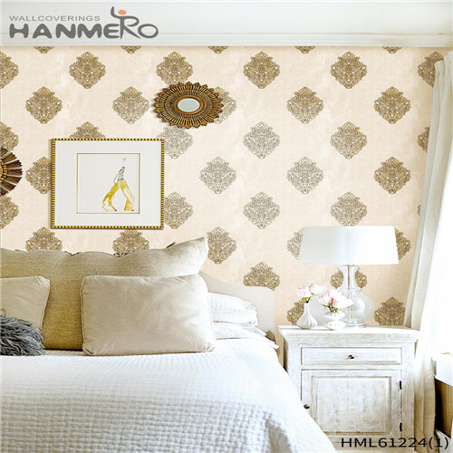 HANMERO PVC Professional Bamboo Flocking 0.53*10M Theatres Chinese Style wallpaper for walls online