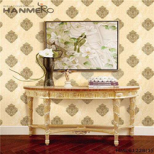 HANMERO Theatres Professional Bamboo Flocking Chinese Style PVC 0.53*10M wallpaper home design