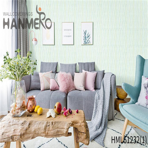HANMERO PVC Theatres Bamboo Flocking Chinese Style Professional 0.53*10M wallpaper wallpaper wallpaper
