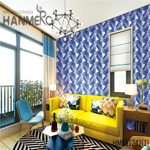 HANMERO PVC Chinese Style Bamboo Flocking Professional Theatres 0.53*10M gray wallpaper patterns