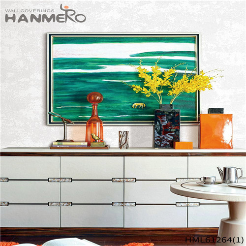 HANMERO Professional PVC Bamboo 0.53*10M house wallpaper price Theatres Flocking Chinese Style