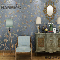 HANMERO online wallpaper New Style Bamboo Bronzing European Photo studio 0.53*10M Non-woven