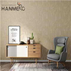 HANMERO Non-woven New Style Bamboo Bronzing commercial wallpaper Photo studio 0.53*10M European